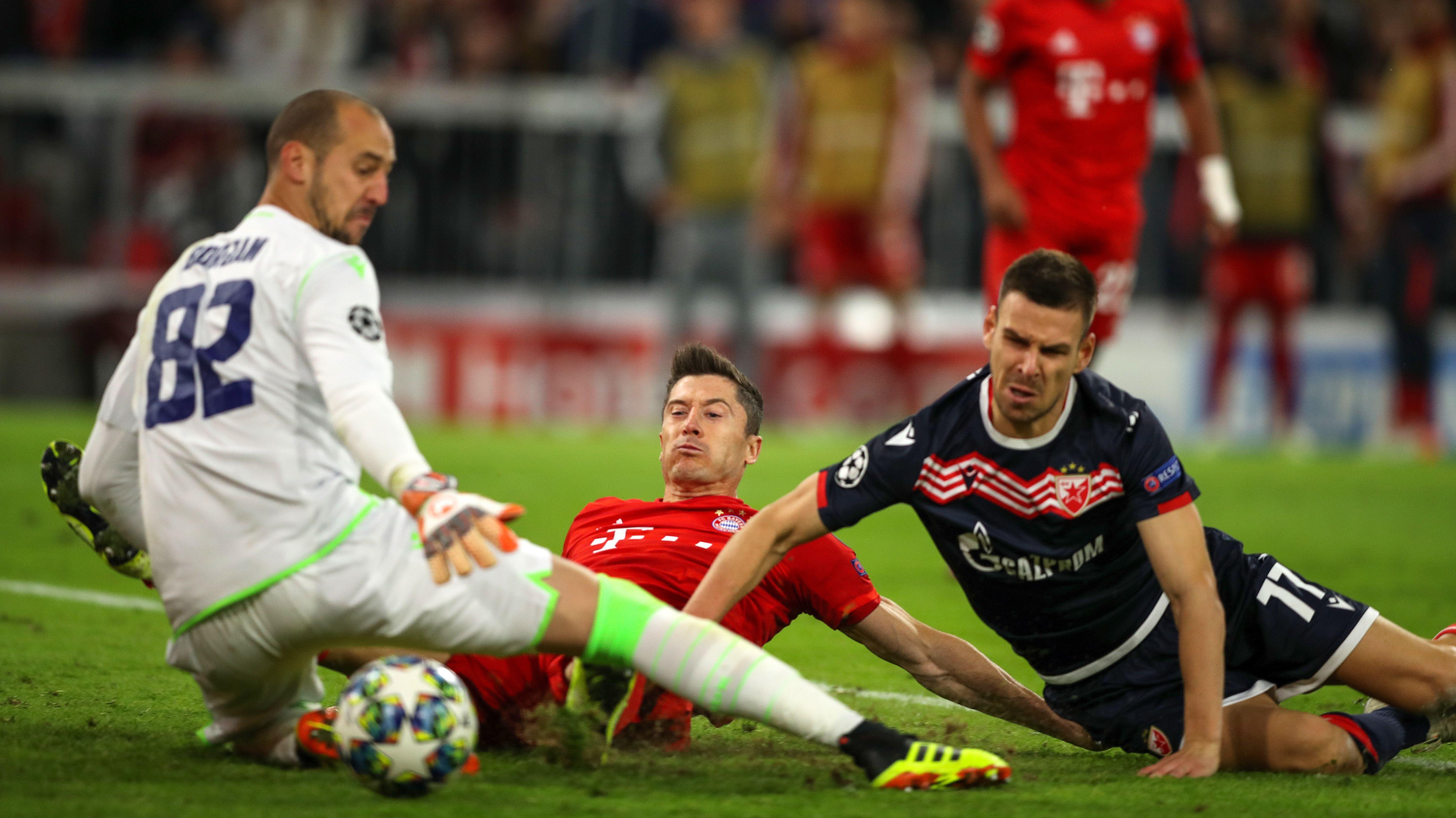 Spielszene aus dem Hinspiel in München