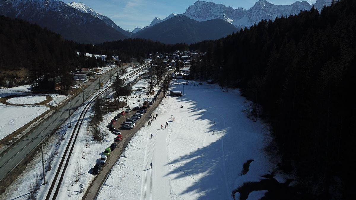 Strecke des Langlaufzentrums Kaltenbrunn am Samstagvormittag