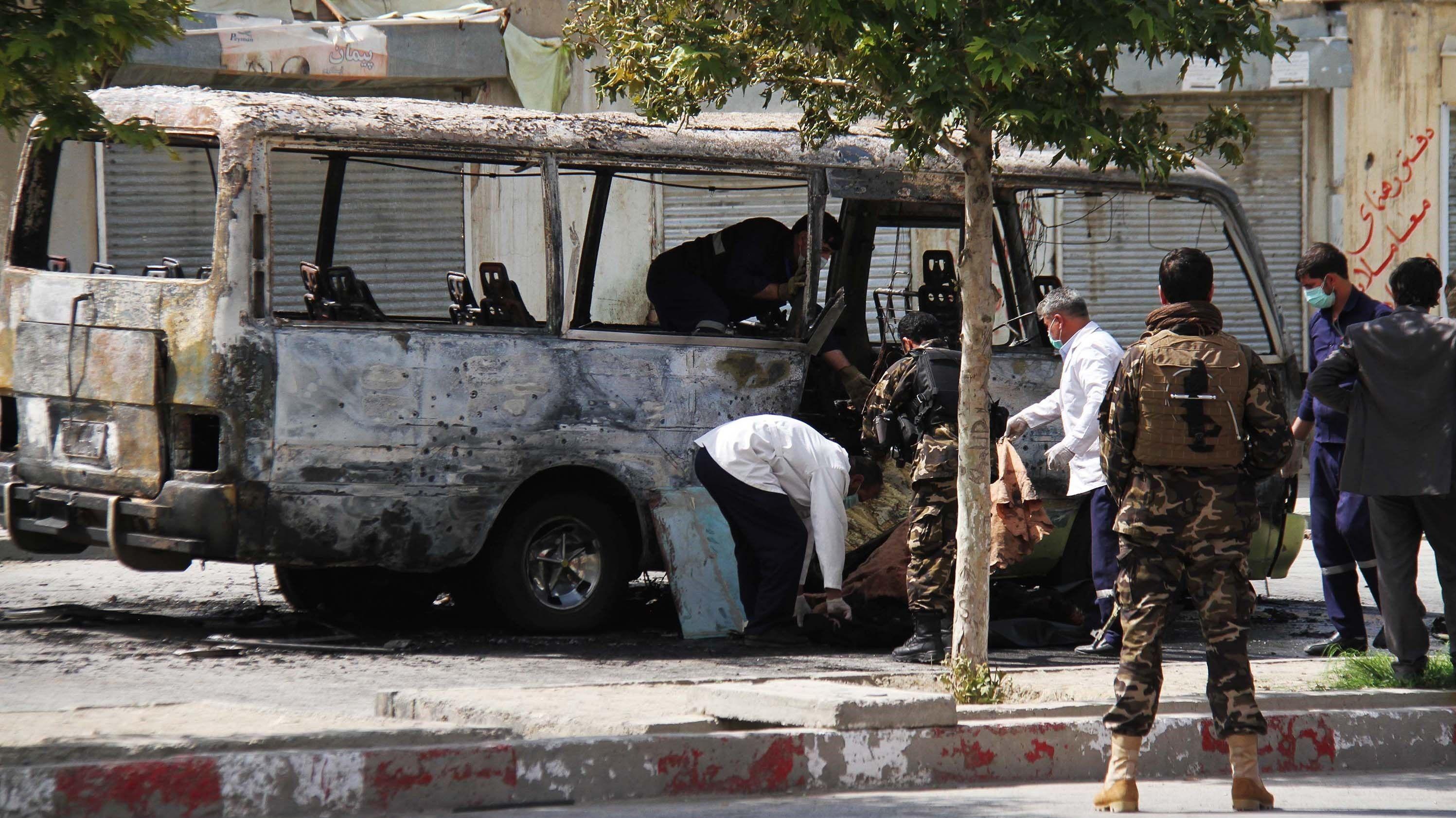 Bombenanschlag in Kabul am 3. Juni 2019 mit mindestens neun Toten.