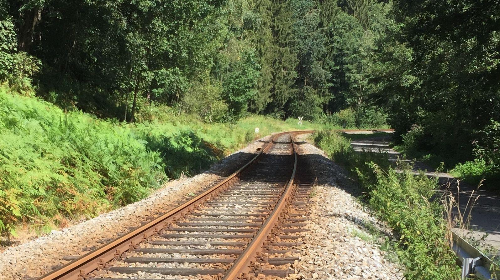 Strecke der Waldbahn Viechtach-Gotteszell im Bayerischen Wald