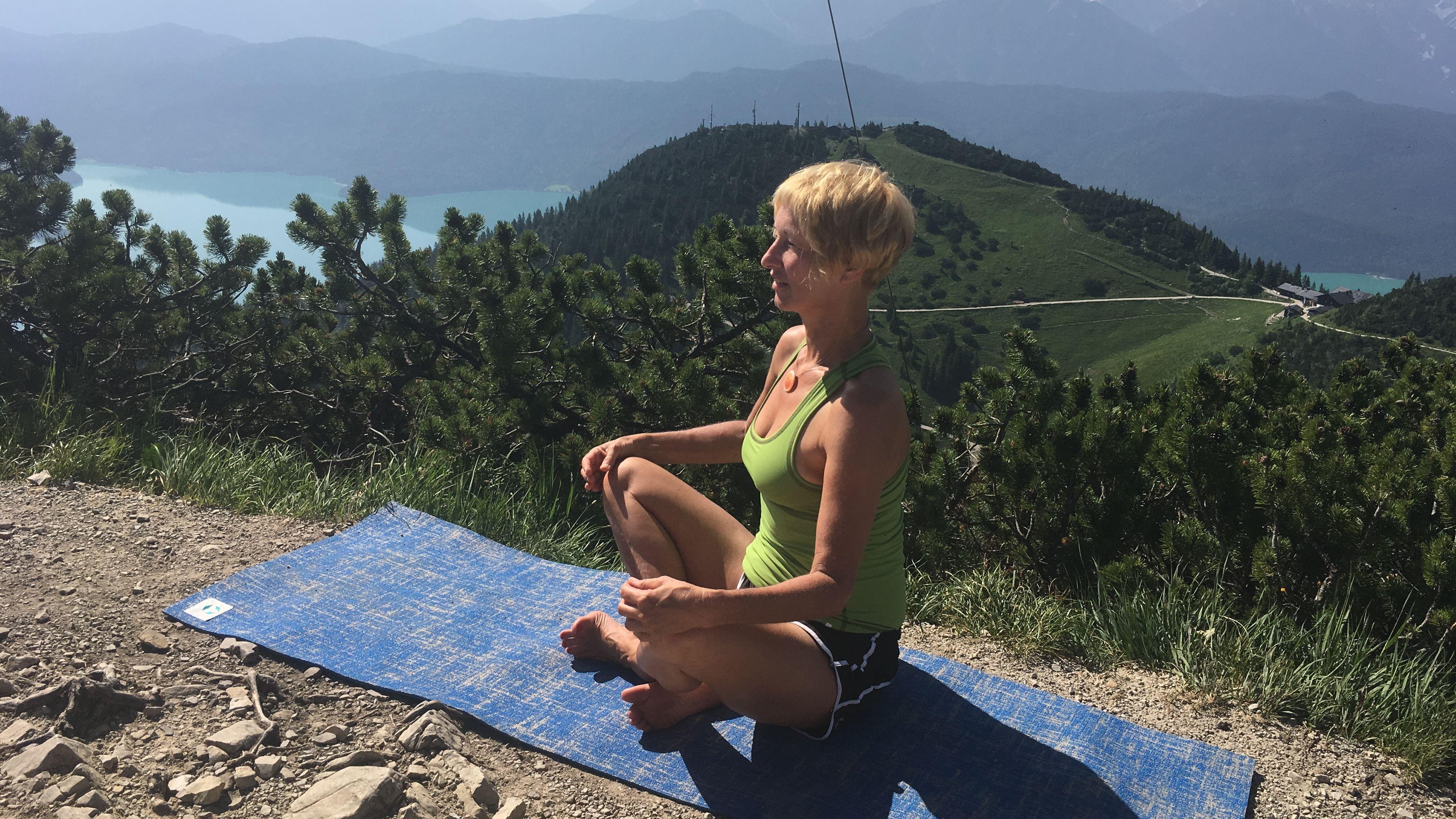 Auf dem Gipfel zur Ruhe und in tiefe Entspannung zu kommen.