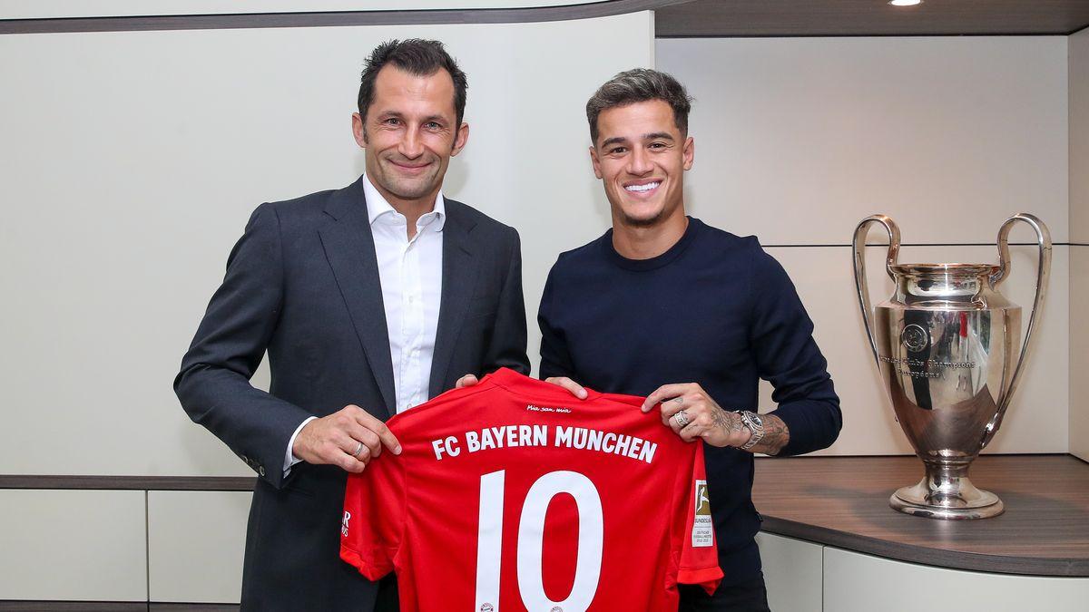 Bayern-Sportdirektor Hasan Salihamidzic (links) und Philippe Coutinho