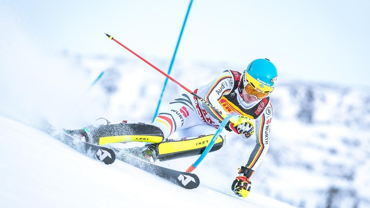 Felix Neureuther beim WM-Slalom in Are