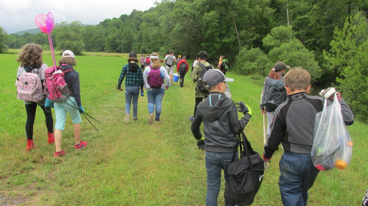 Viertklässler der Grundschule in Zeitlofs beteiligen sich an länderübergreifendem Forschungsprojekt und suchen nach Plastik im Fluss