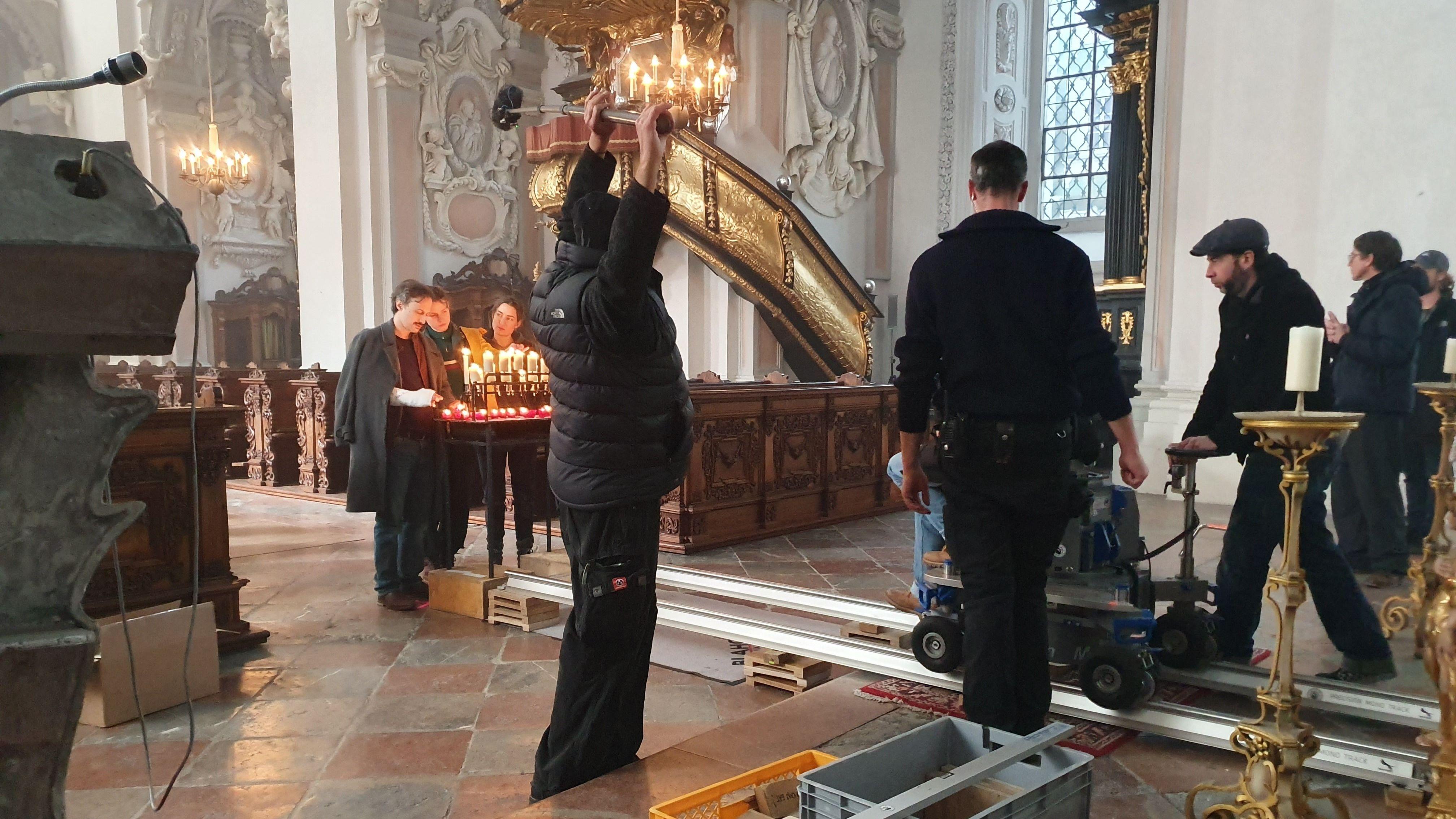Dreharbeiten in der Kirche St. Michael in Passau