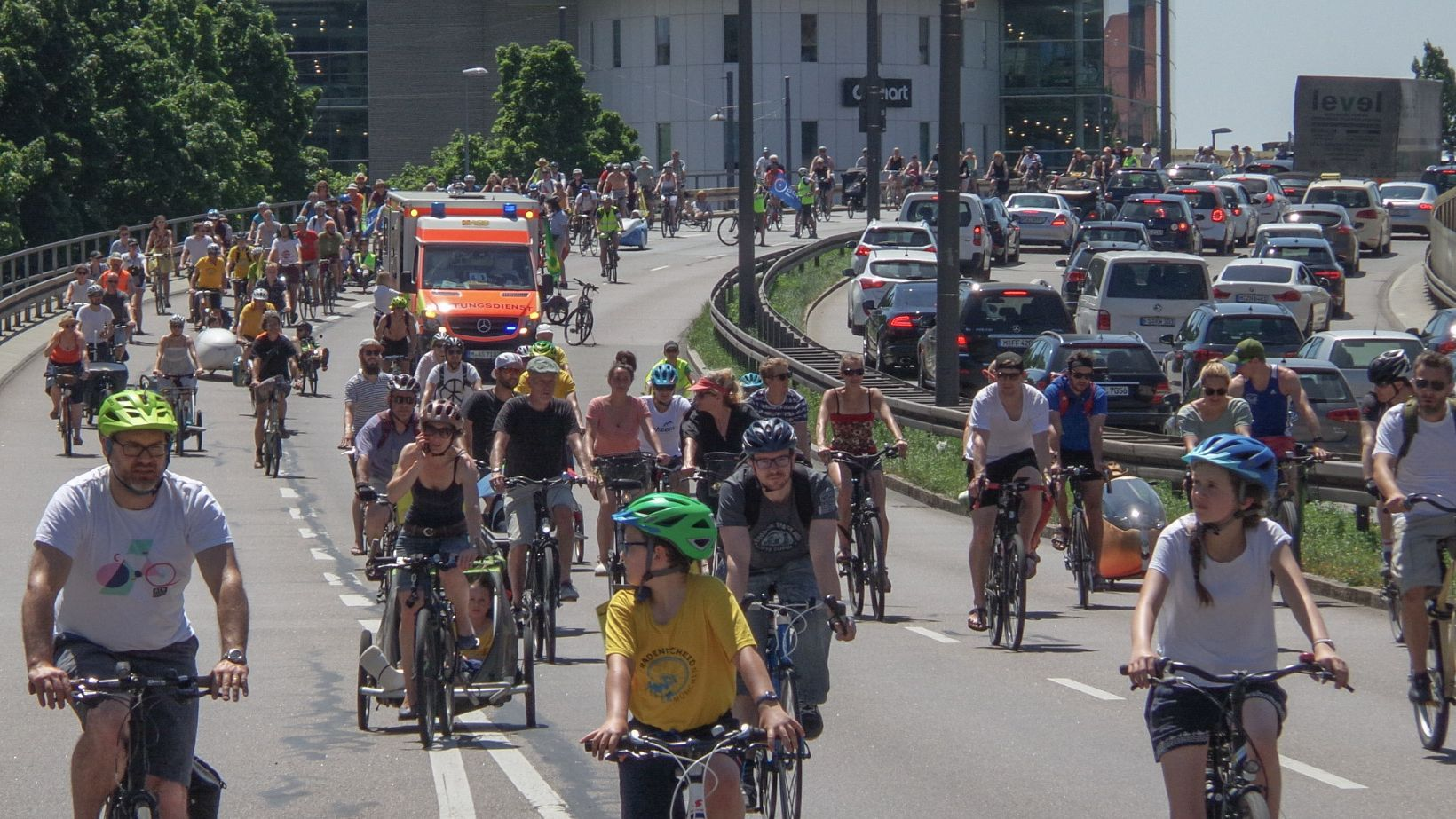 Rad-Ring-Demo in München am 30.06.2019.
