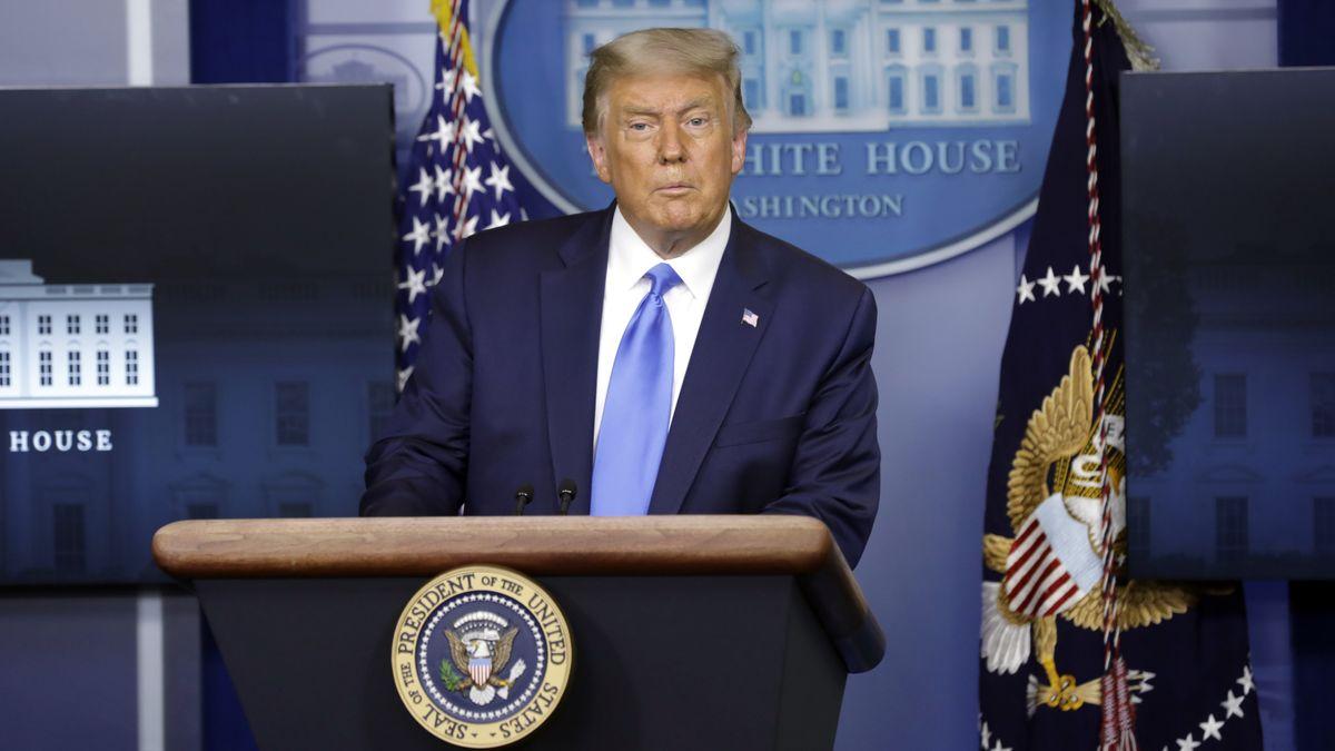 US-Präsident Donald Trump bei einer Pressekonferenz im Weißen Haus.