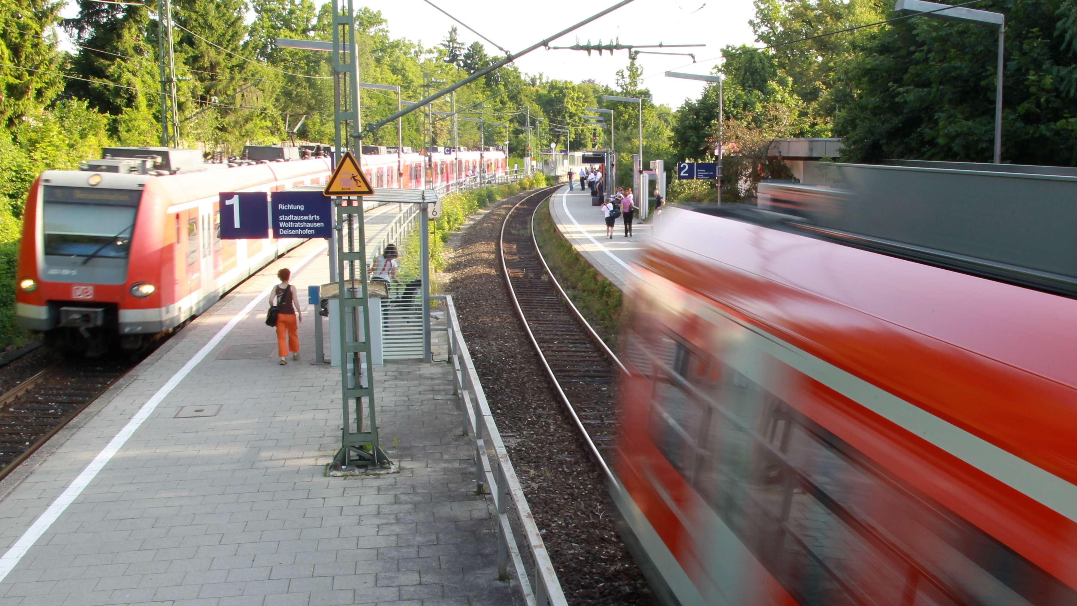 Symbolbild: S-Bahnen in Solln.
