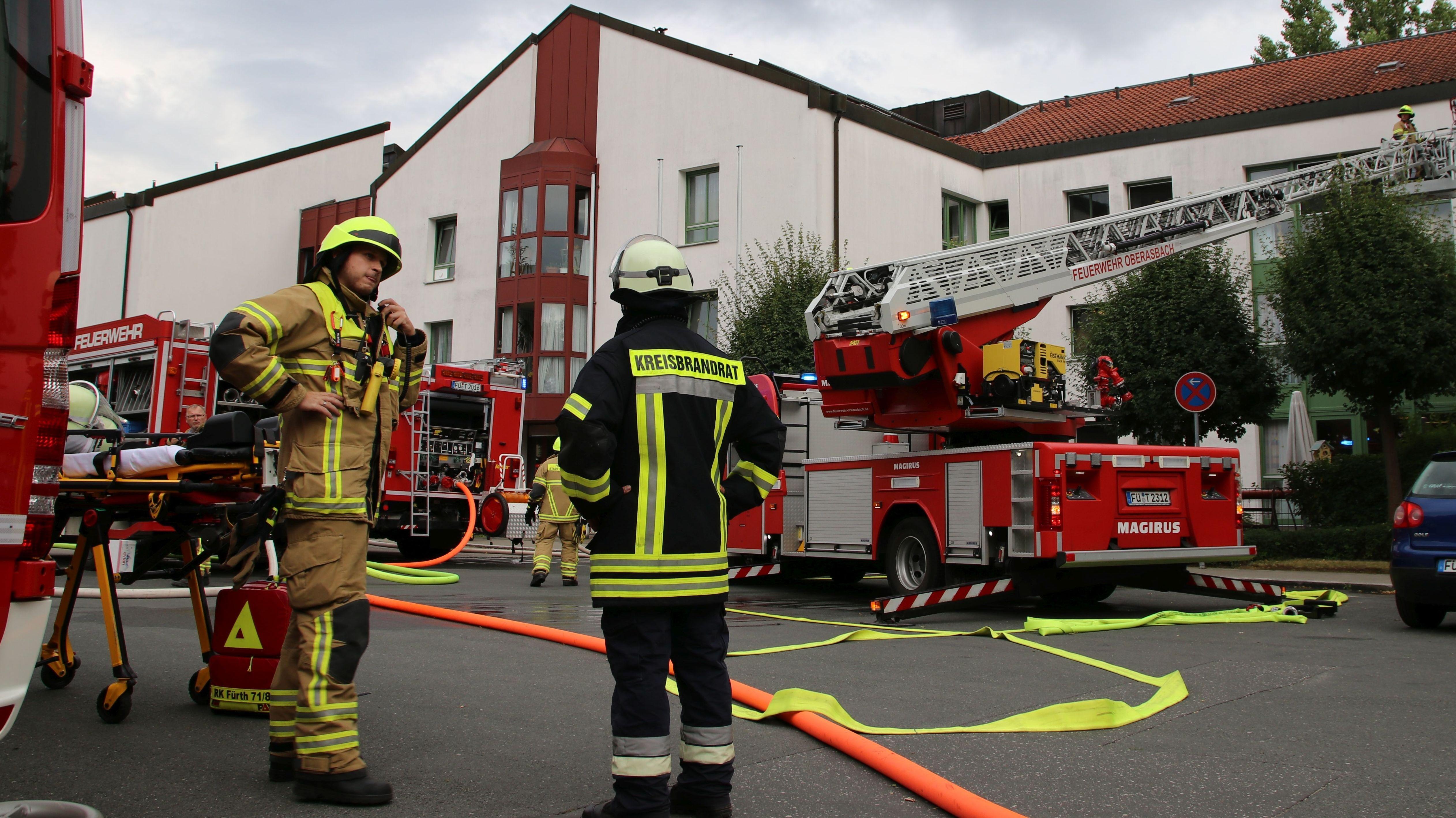 Feuerwehr am Brandort