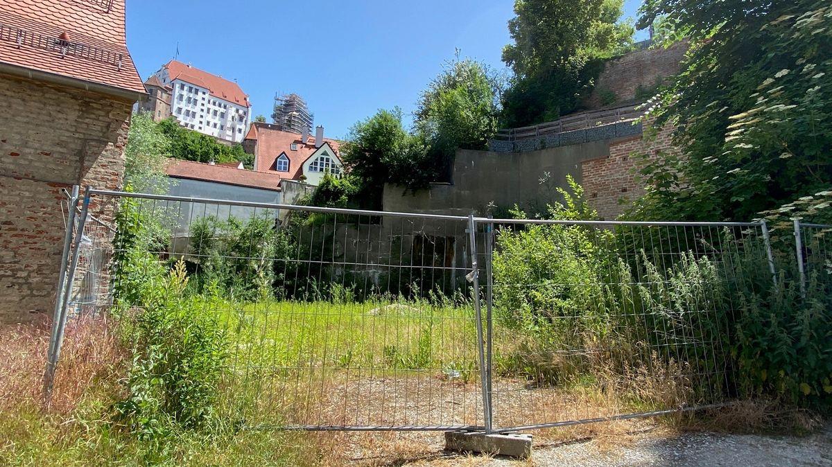 Landshuts bekannteste Baugrube: Bernd Hanseders Grundstück am südlichen Ende der Altstadt