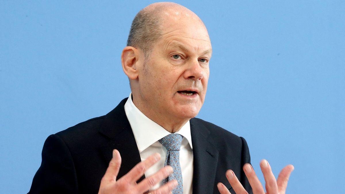 Scholz stell Eckwerte des Bundeshaushalts 2022 vor