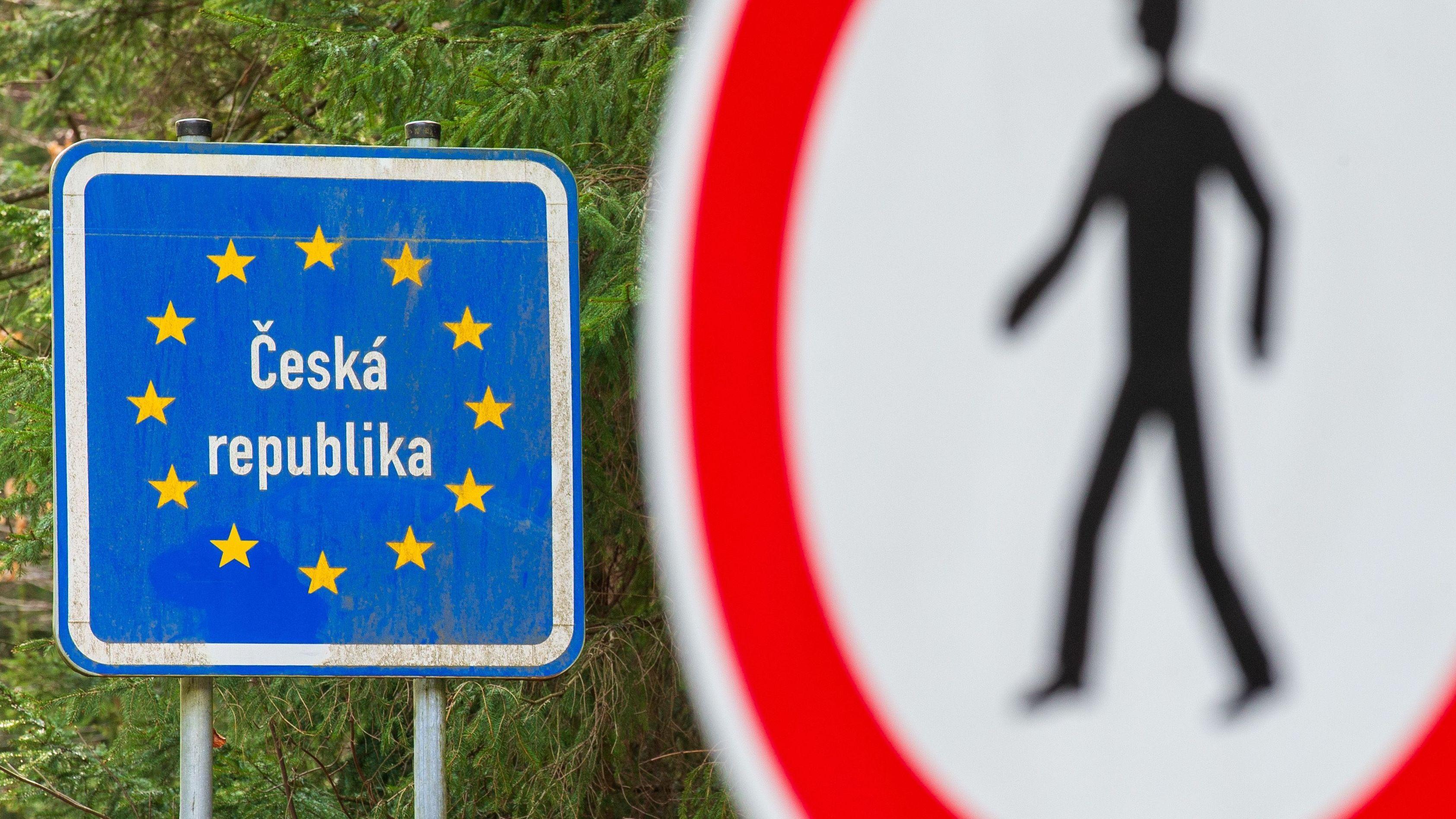 Tschechisch-deutsche Grenze.