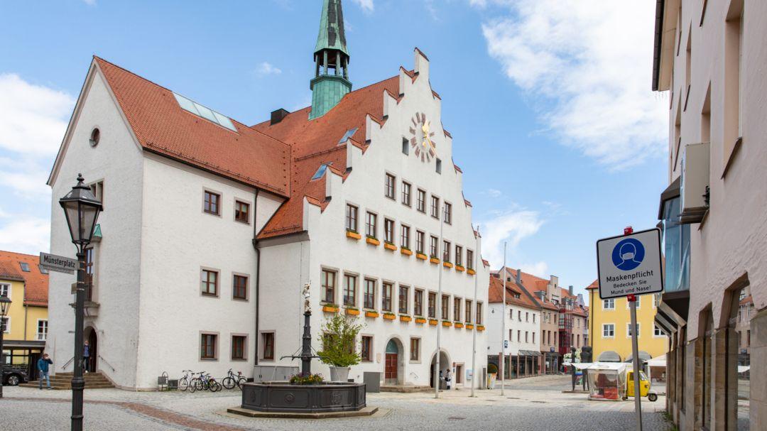 Das Rathaus von Neumarkt in der Oberpfalz.