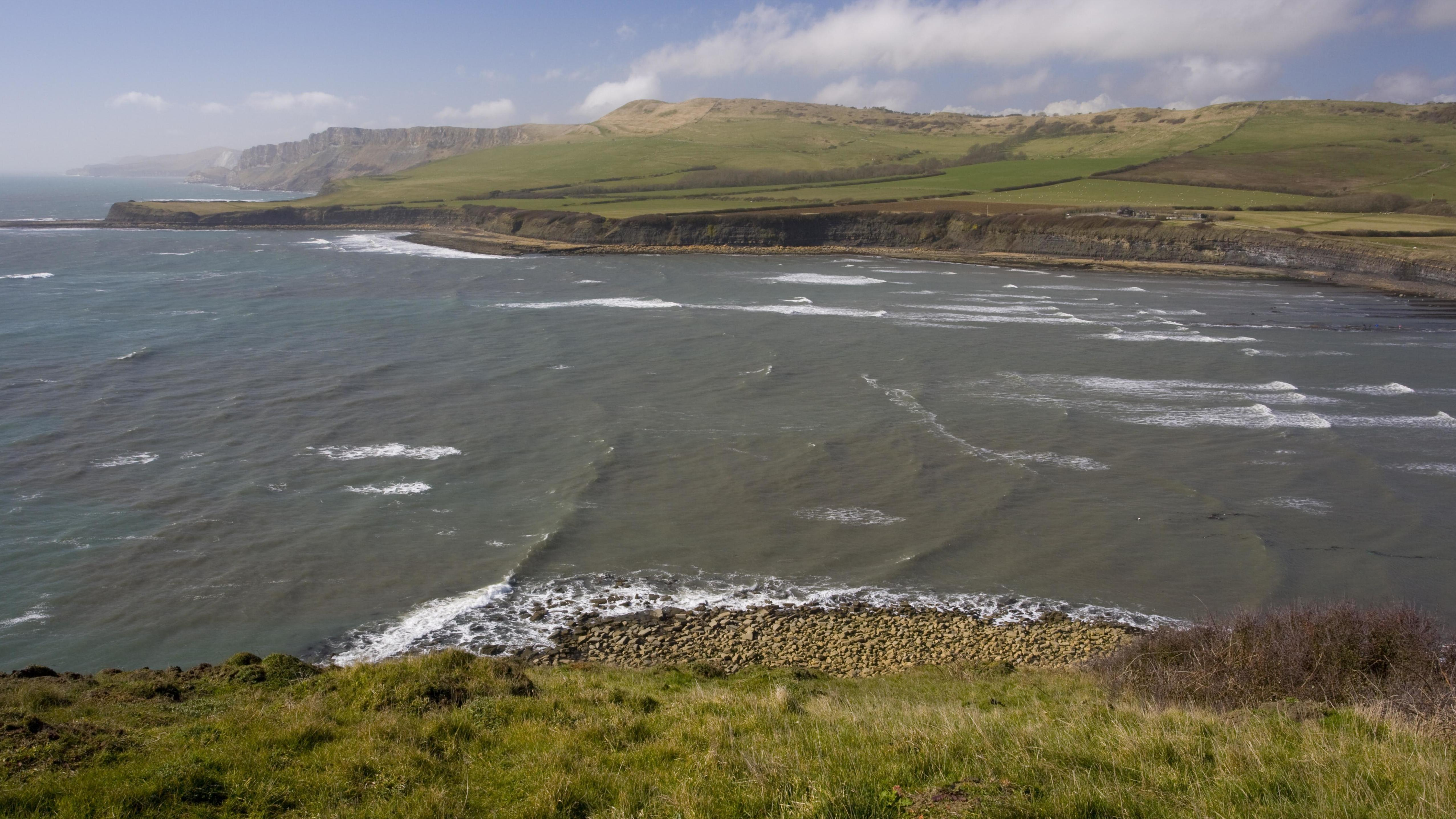 Meeresschutzgebiet, Kimmeridge Bay, Dorset, Großbritannien, Europa