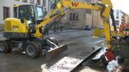 Wasserrohrbruch in Bayreuth   Bild:BR