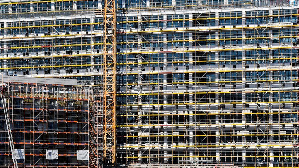 Baustelle an der Rummelsburger Bucht.