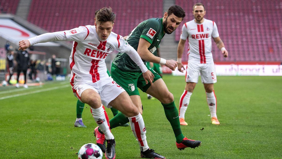 Spielszene 1. FC Köln - FC Augsburg