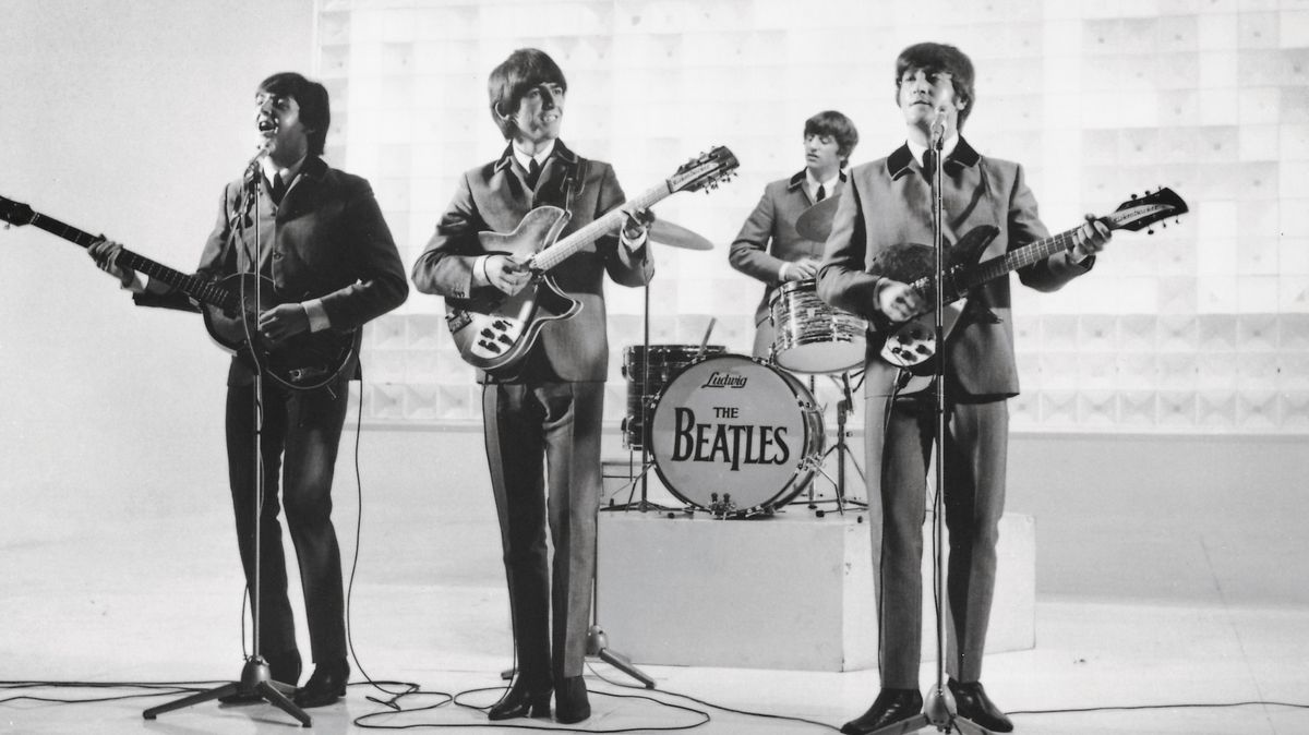 "Die ""Fab Four"": Paul McCartney, George Harrison, Ringo Starr und John Lennon (von links)."