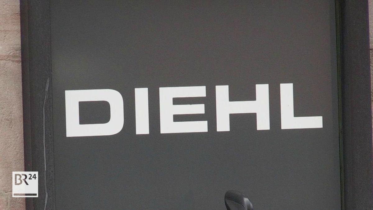 """Weiße Schrift """"DIEHL"""" auf dunklem Hintergrund"""