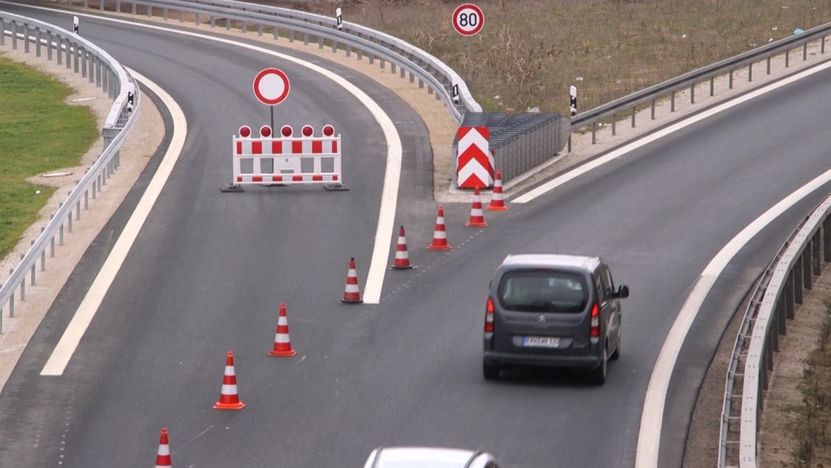 Autobahn-Baustelle bei Nürnberg