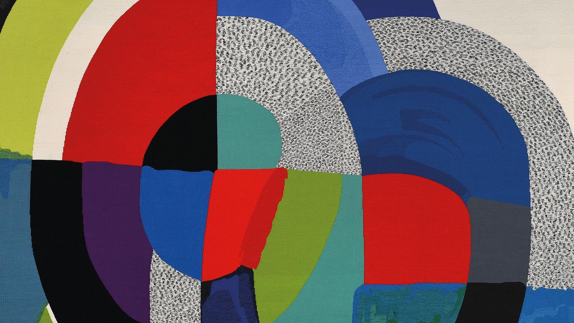 Abstrakter Wandteppich von Sonia Delaunay