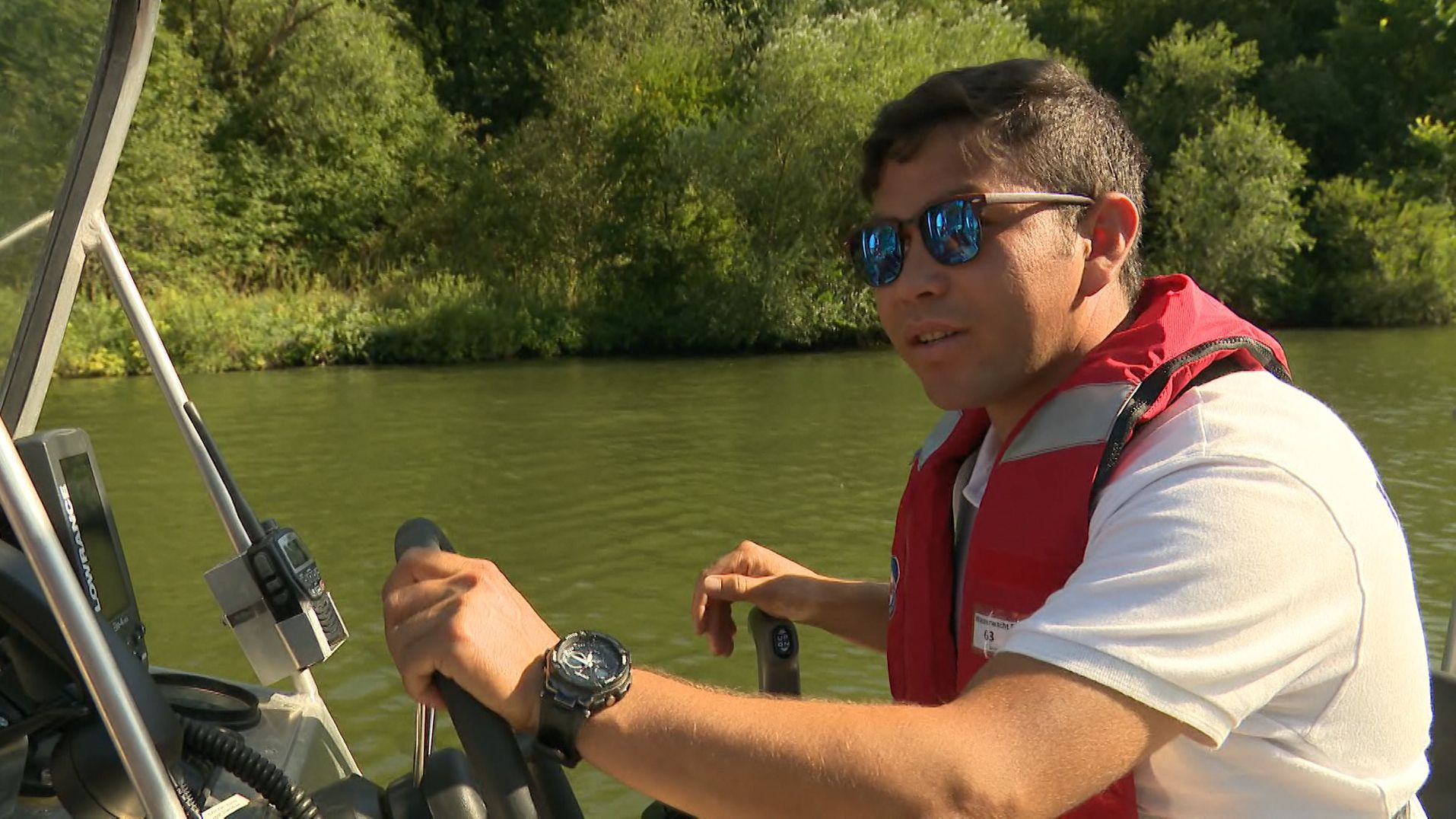 Rettungsschwimmer Nehmat Husini
