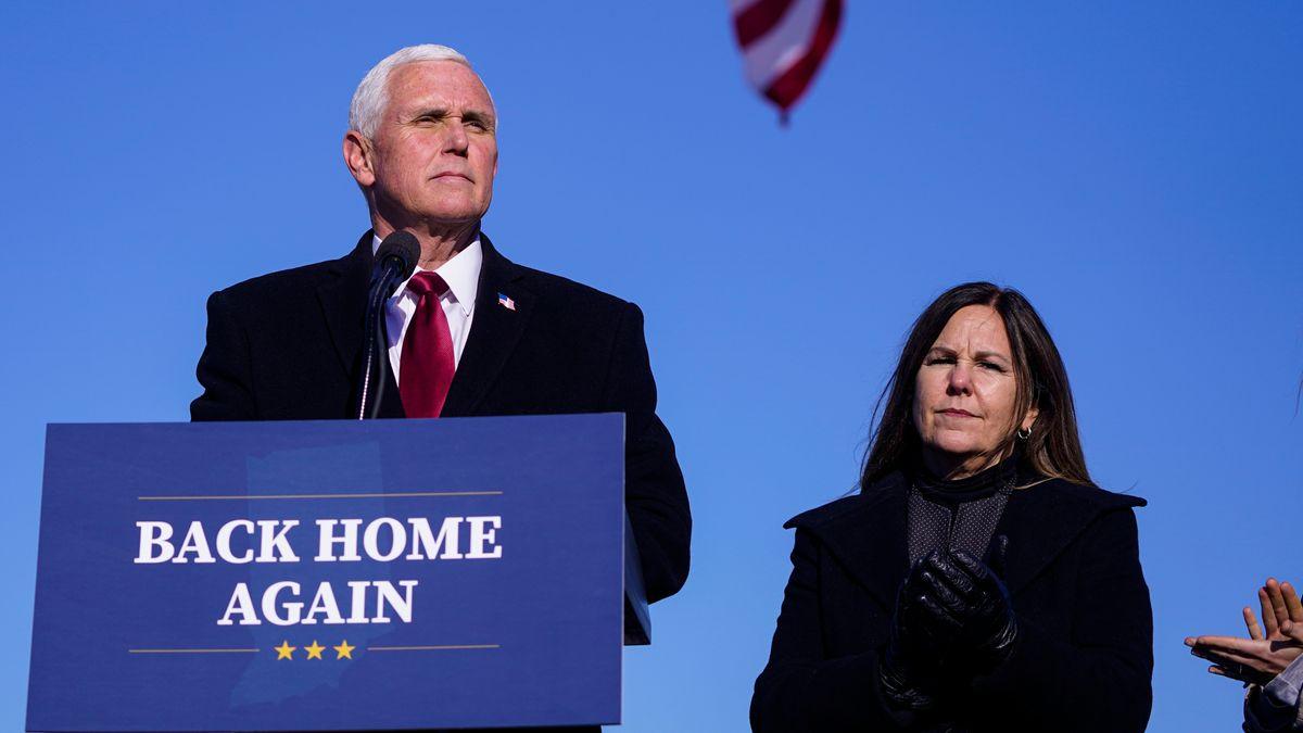 Der Ex-Vizepräsident in seinem Heimatstaat Indiana am 20. Januar 2021