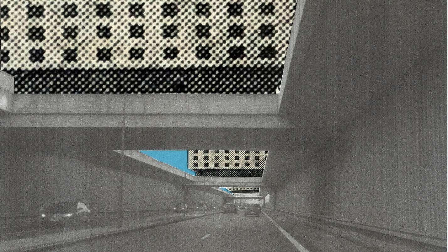 Großstadt à la Hilberseimer: So sähen sogenannte Zeilenbauten aus quer über die Autobahn im Südosten Münchens (McGraw-Graben/Tegenseer Landstraße).