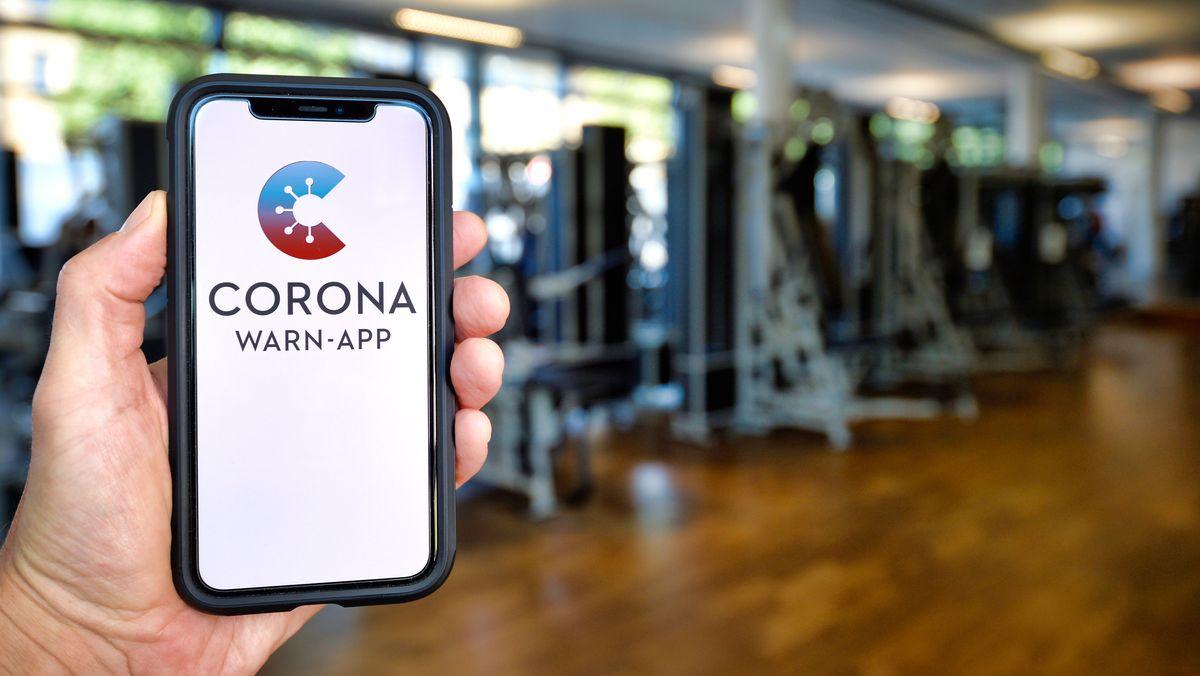Corona-Warn-App im Fitnessstudio