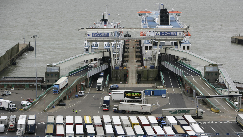 LKW im Hafen von Dover