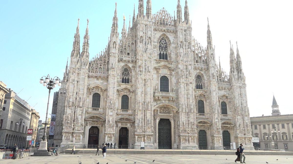 nahezu verwaiste Innenstadt von Mailand