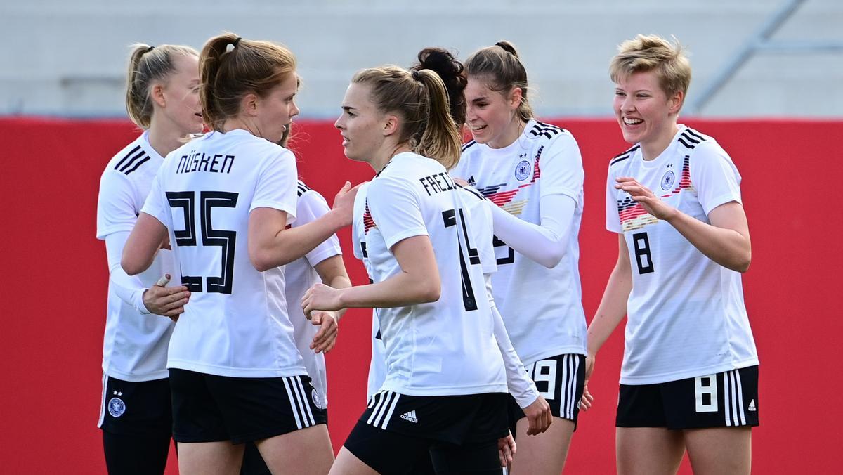 Torjubel der DFB-Frauen im Spiel gegen Norwegen