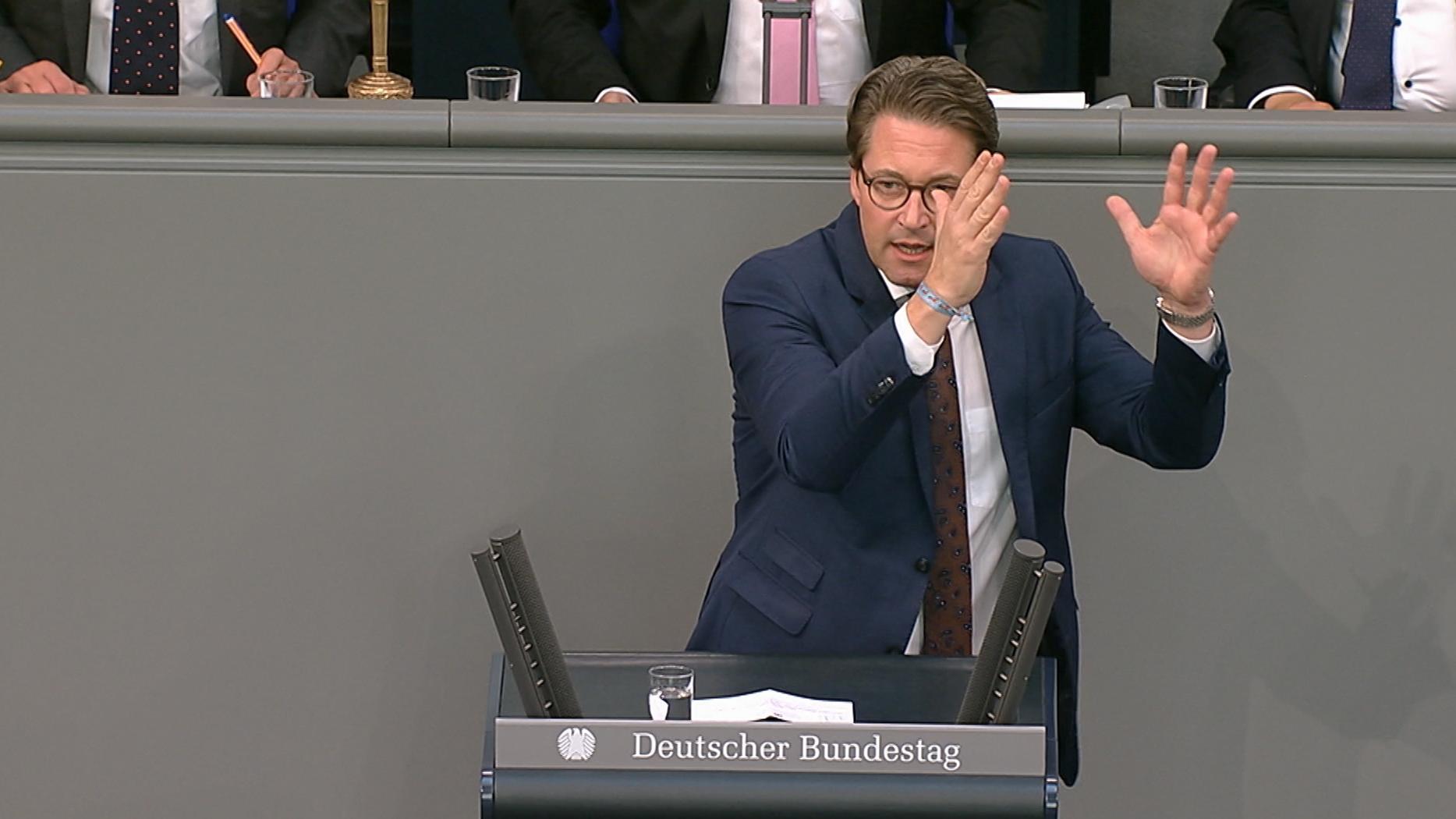 Verkehrsminister Scheuer (CSU)