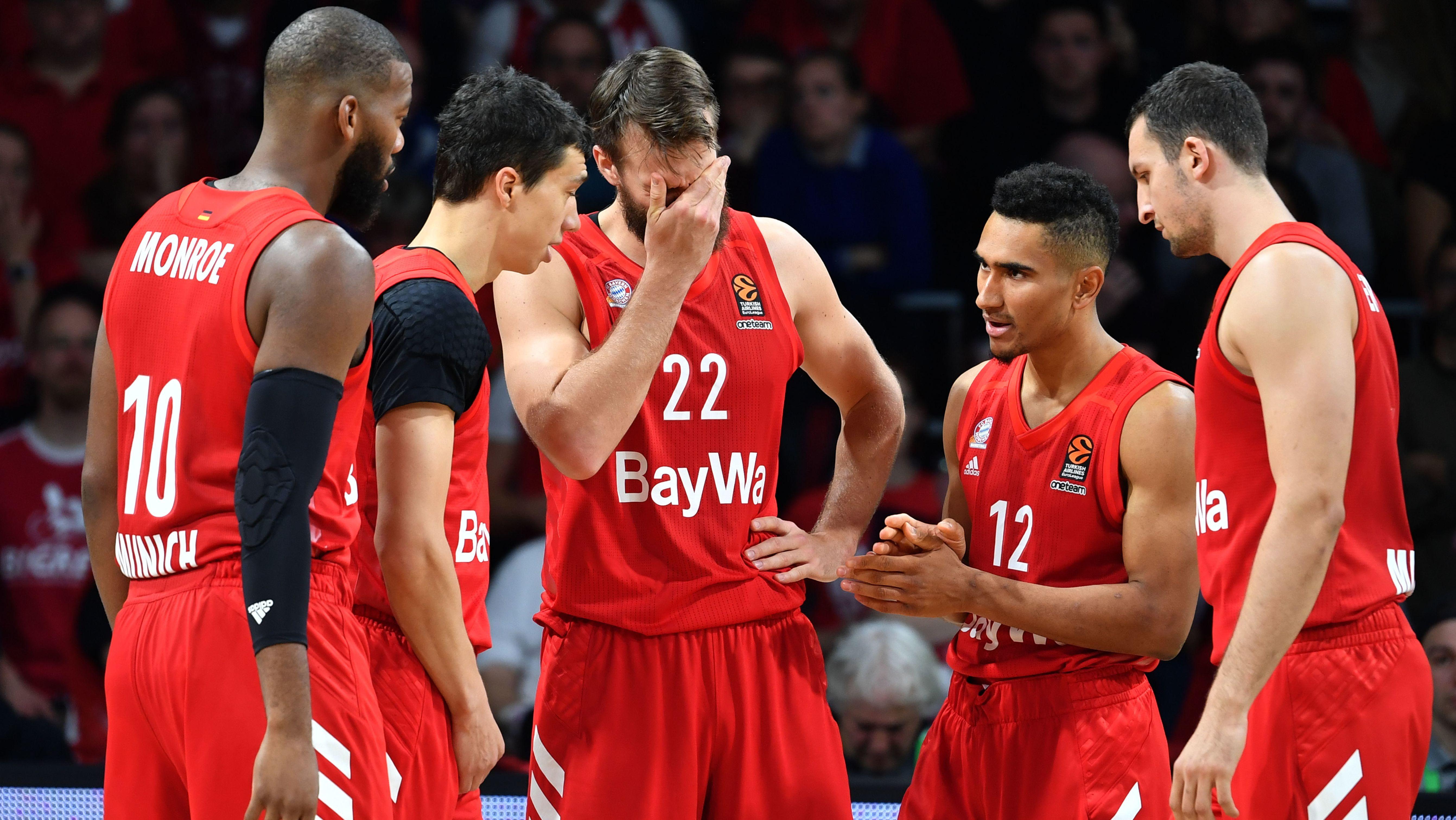 Enttäuschte Bayern-Basketballer