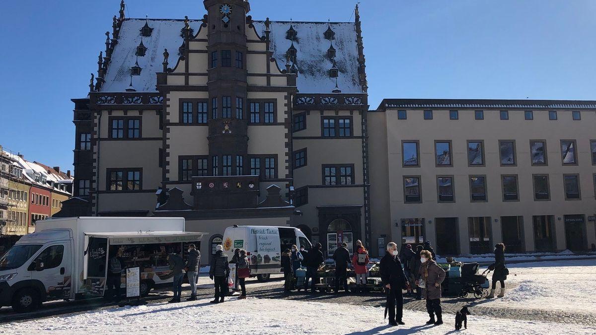 Wochenmarkt in Schweinfurt