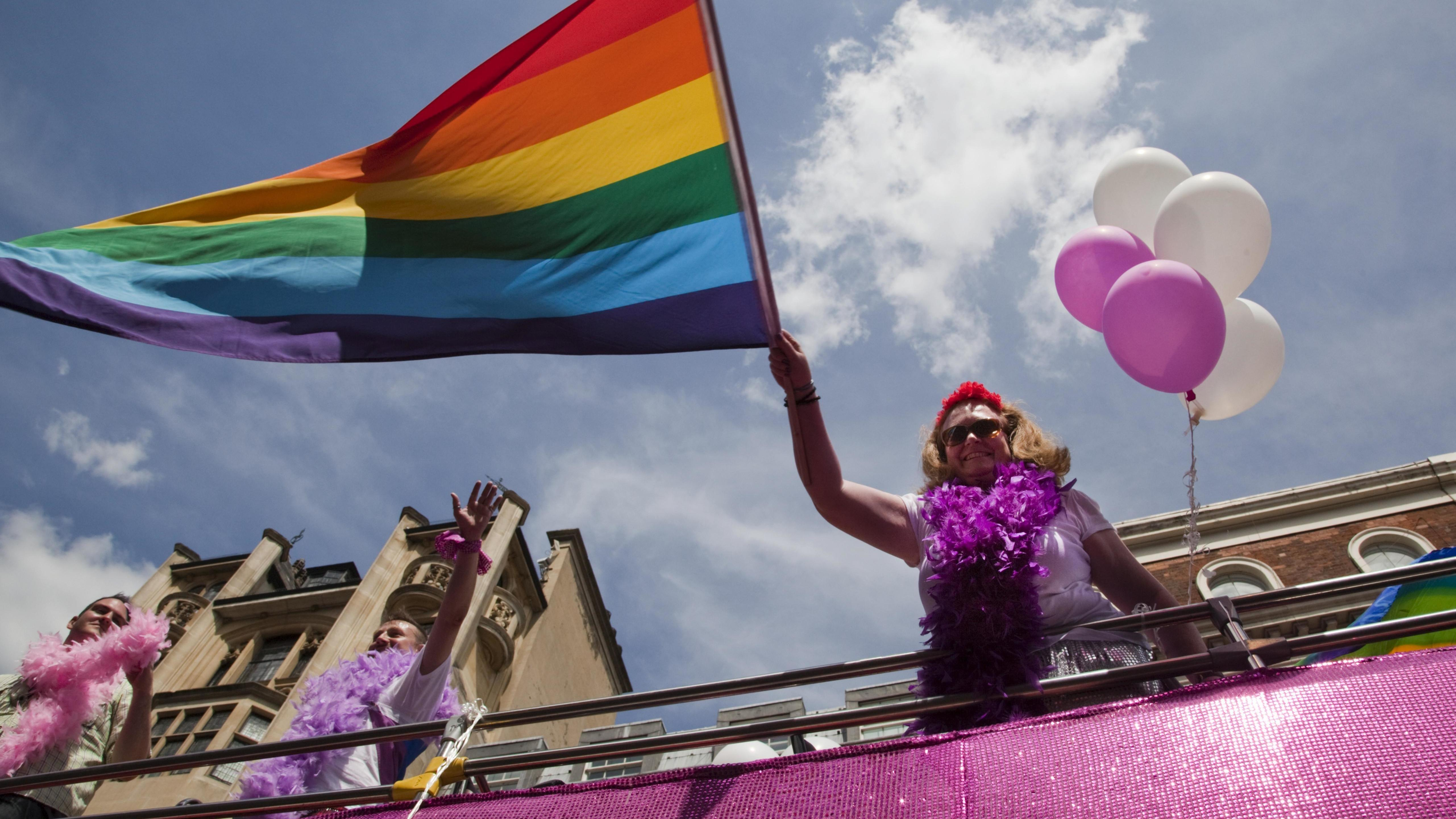 Demonstration von Homosexuellen