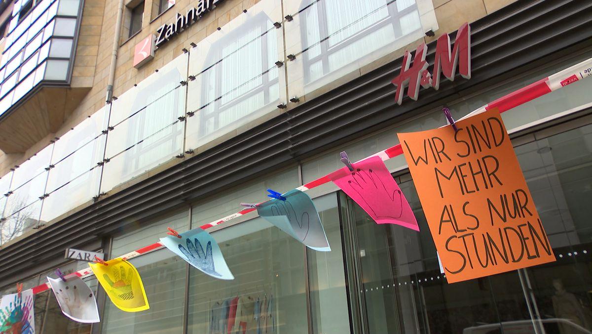 H&M-Beschäftigte protestieren in Nürnberg