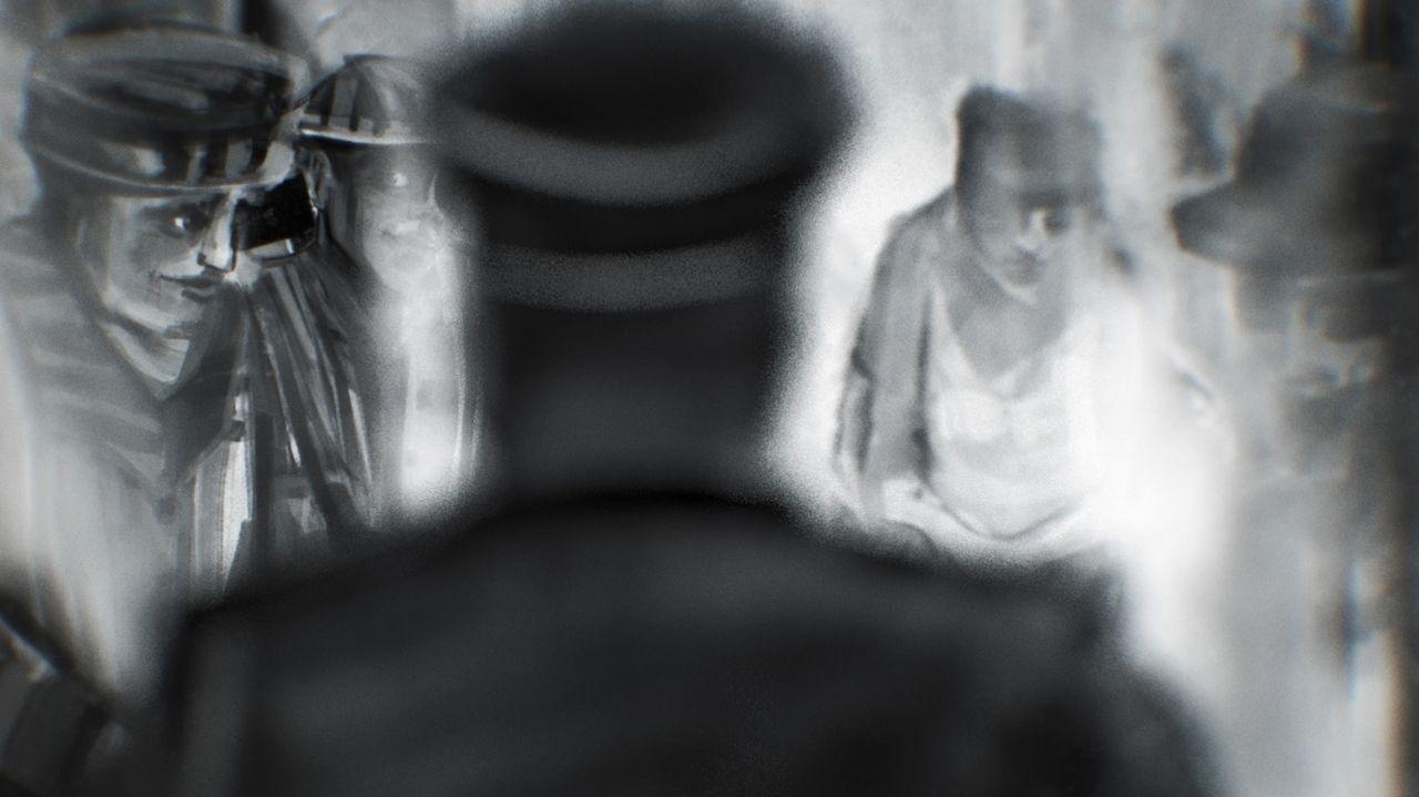 Szene in der Waschküche des KL Dachau (Animation)