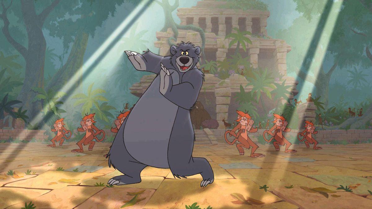 """Eine Tanzszene aus Disneys """"Dschungelbuch"""" von 1967"""