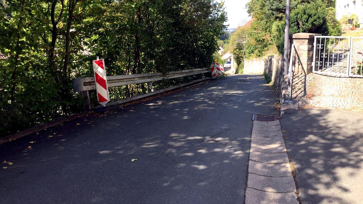 """Die Straße """"Vordere Warmeleite"""" in Bad Berneck"""