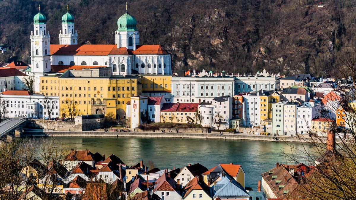 Blick auf Passau und den Inn