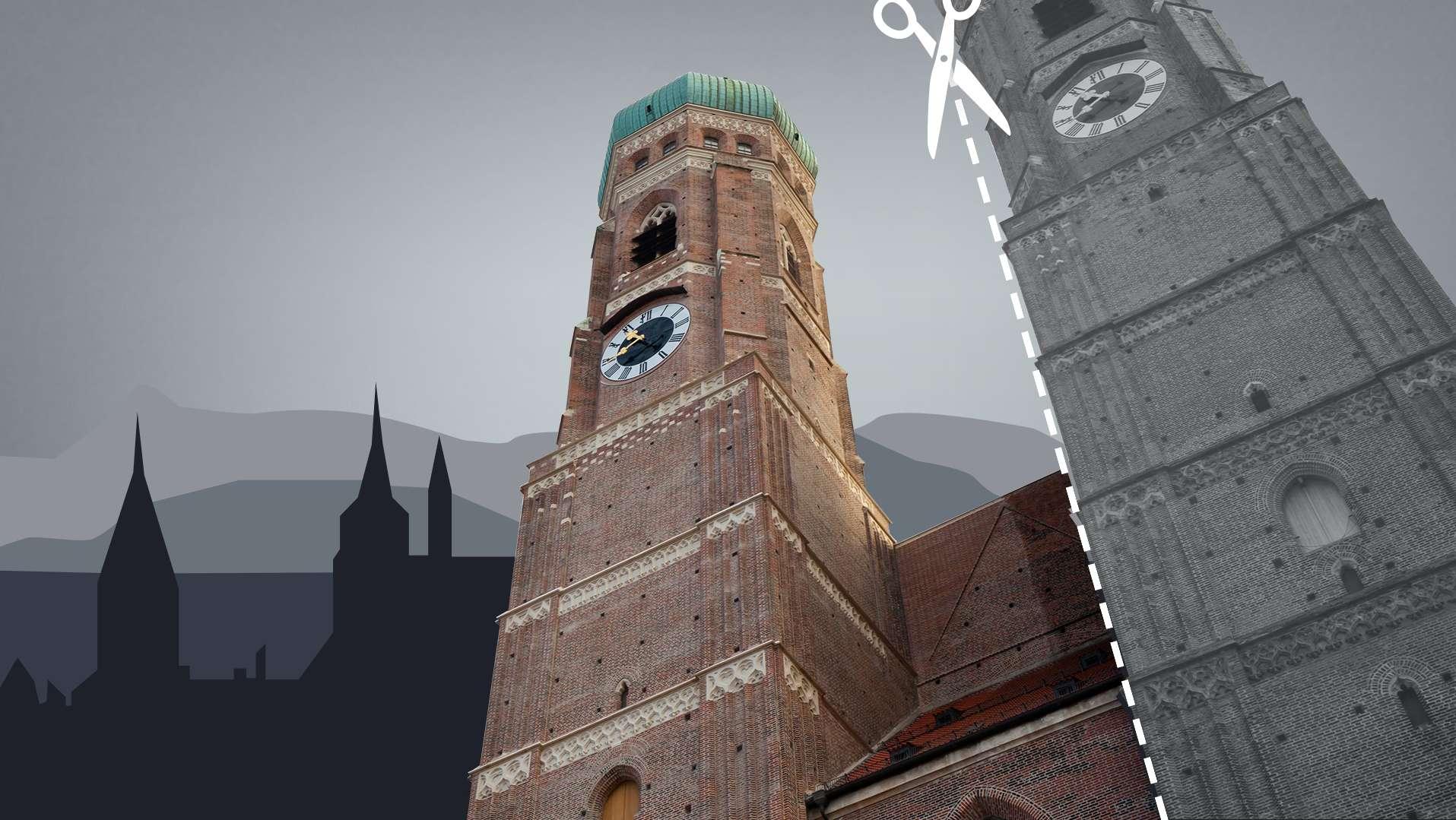 Symbolbild: Münchner Liebfrauendom mit nur einem Turm