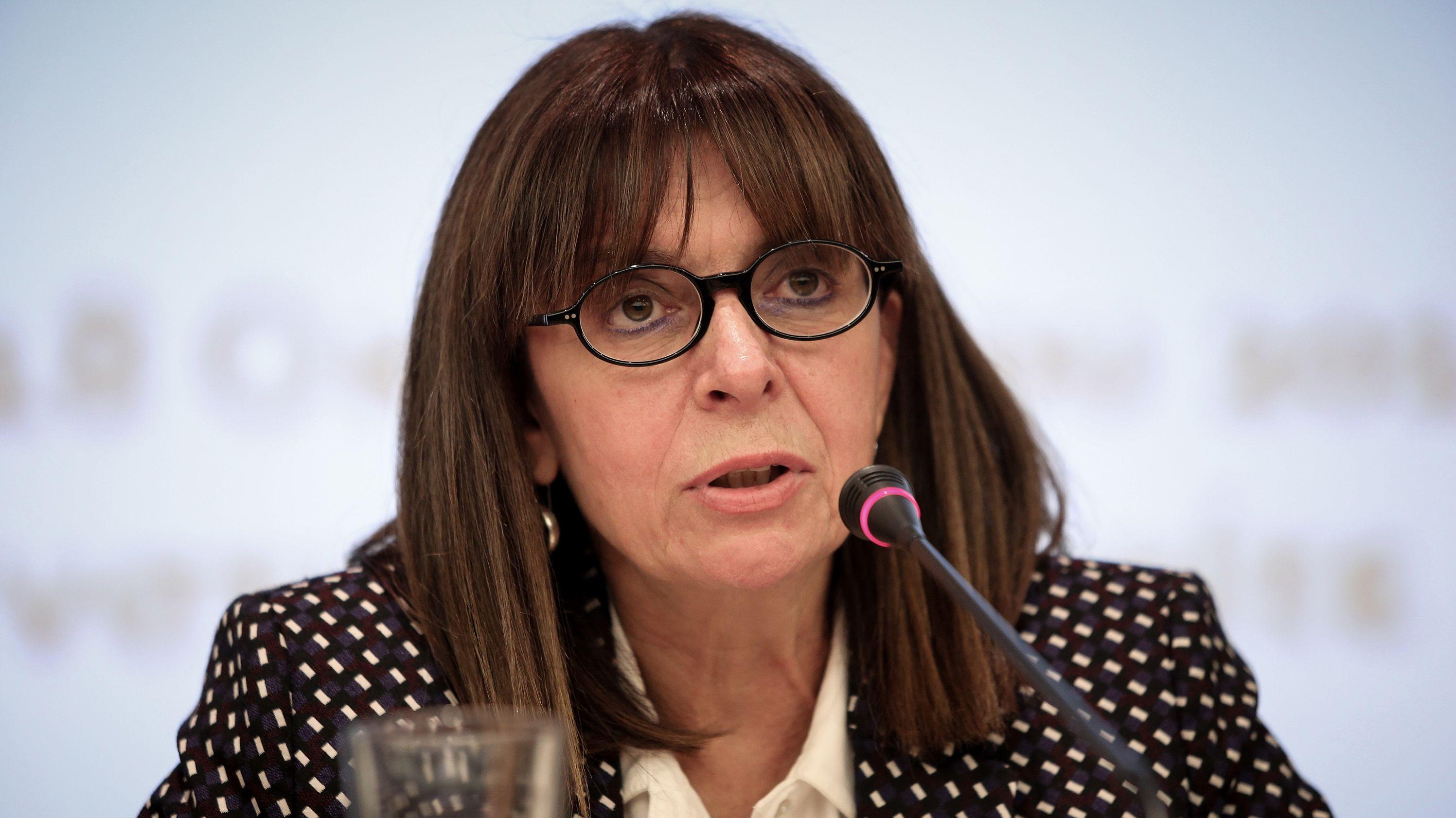 Sie ist die erste weibliche Staatspräsidentin in Griechenland: Die Juristin Ekaterini Sakellaropoulou.