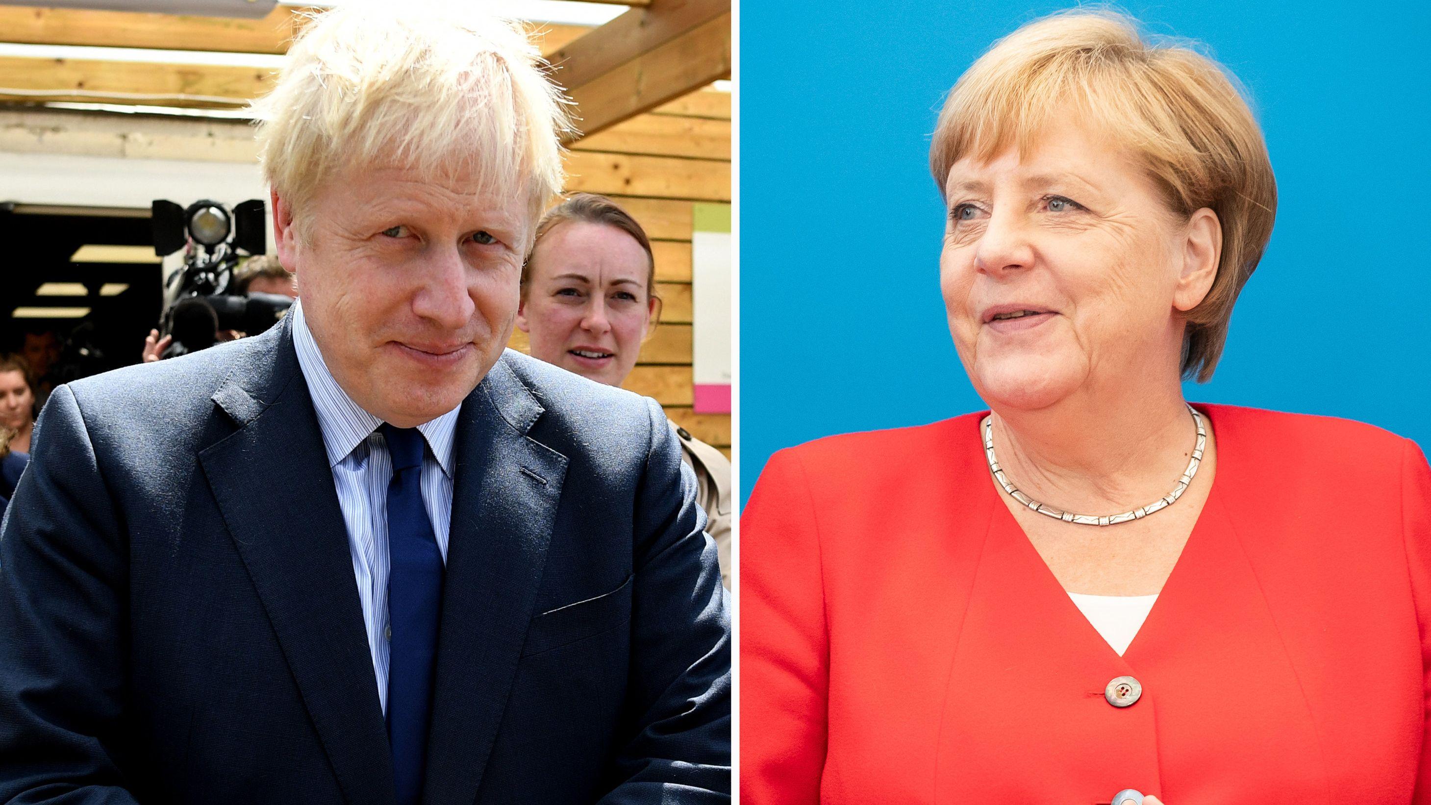 Johnson und Merkel