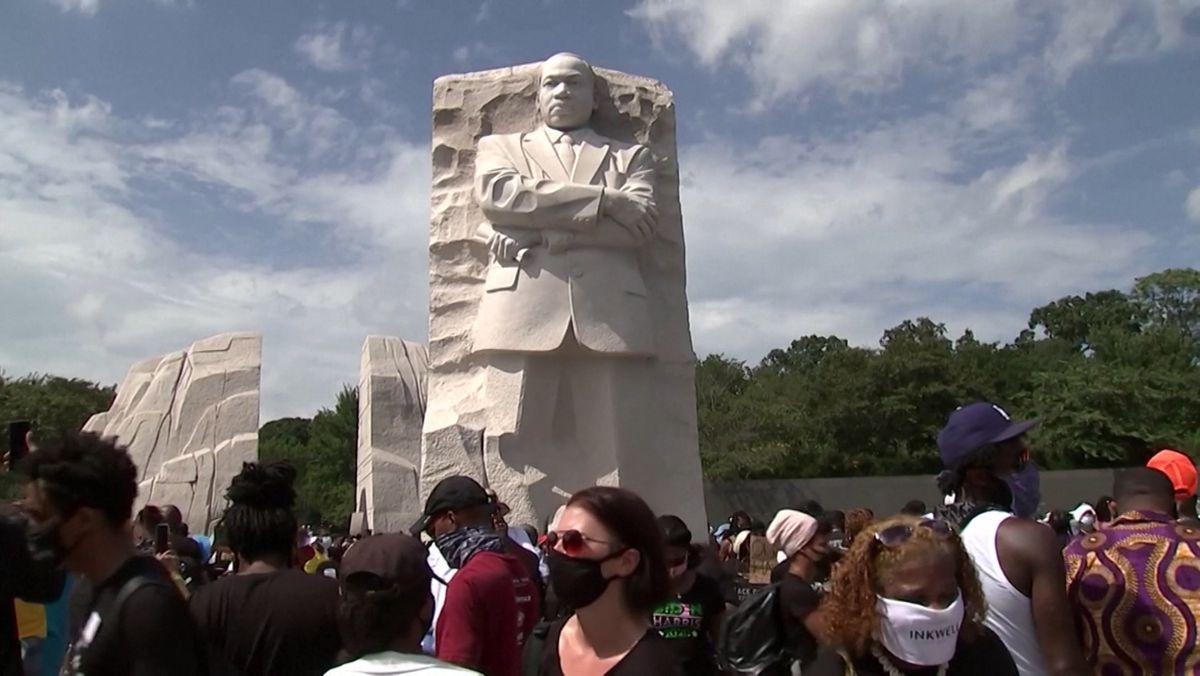 Protestmarsch in der US-Hauptstadt Washington gegen Rassismus