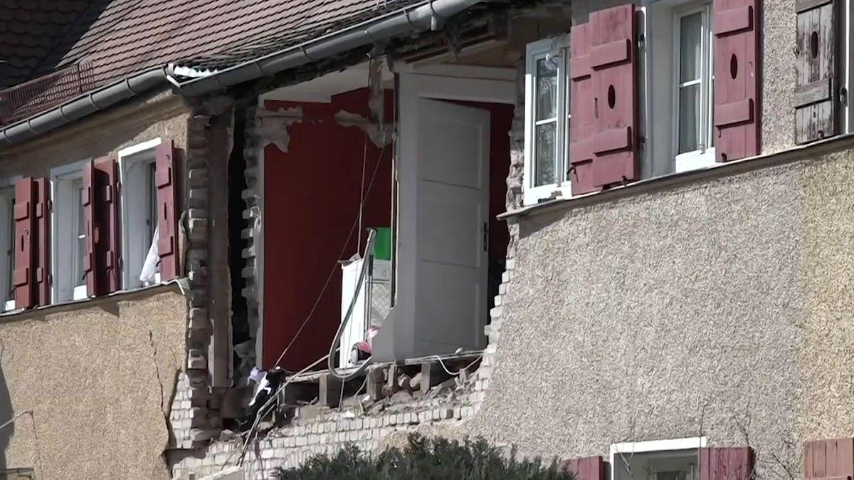 Haus nach Explosion in Nürnberg-Werderau