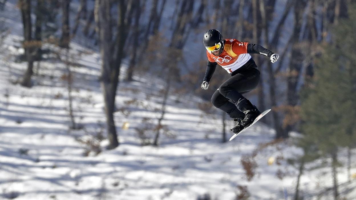 Snowboarder Martin Nörl in Aktion