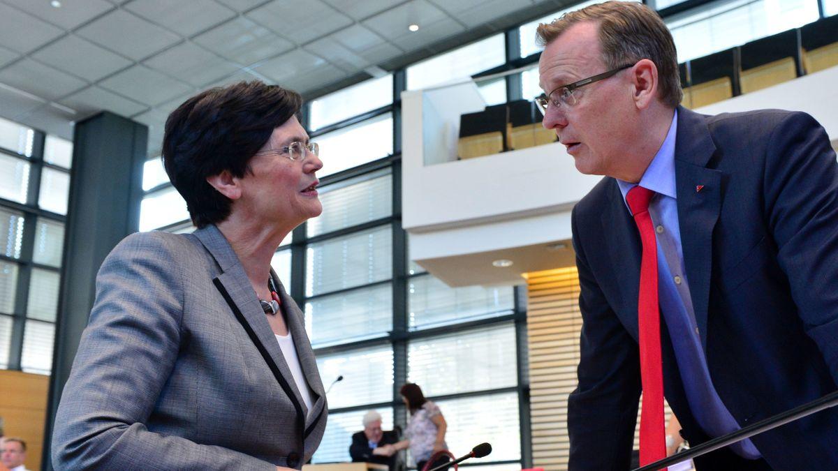 Christine Lieberknecht (CDU) und Bodo Ramelow (Linke) - Archivbild von 2014