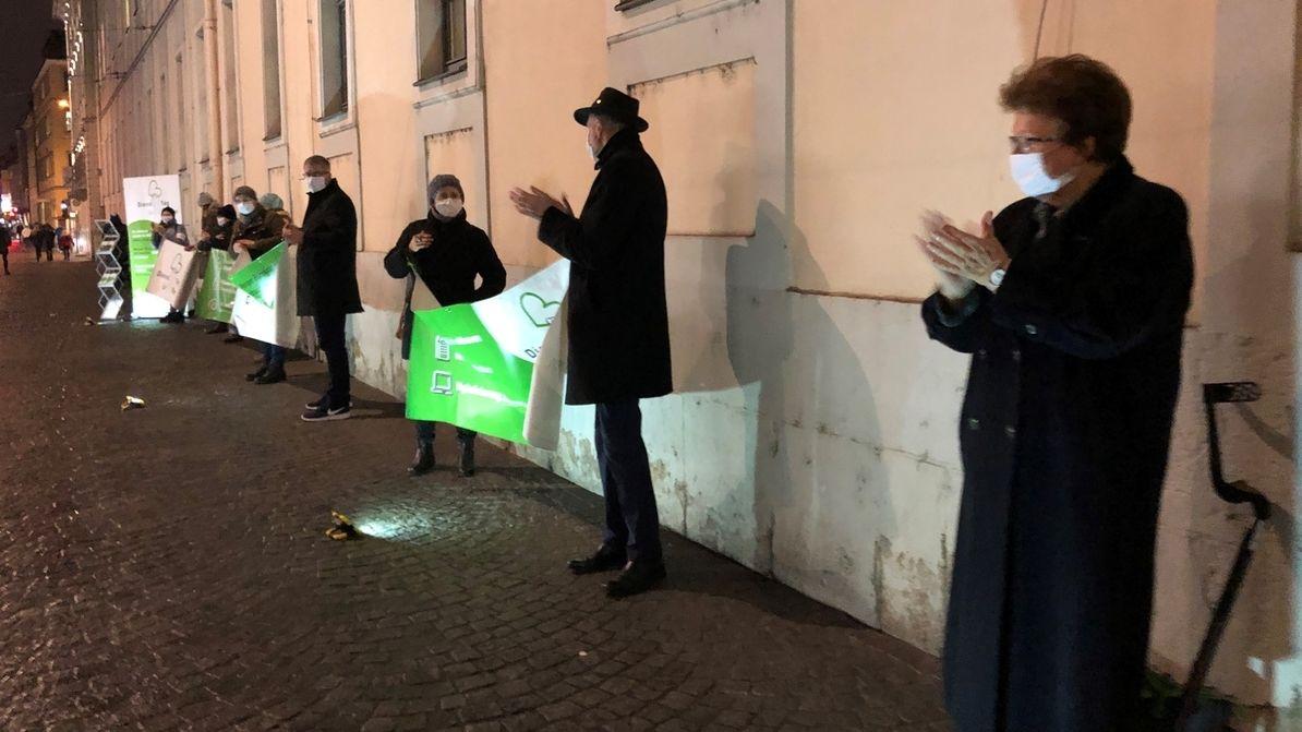 """Stamm bei Würzburger """"Dienst-Tag""""-Demo"""