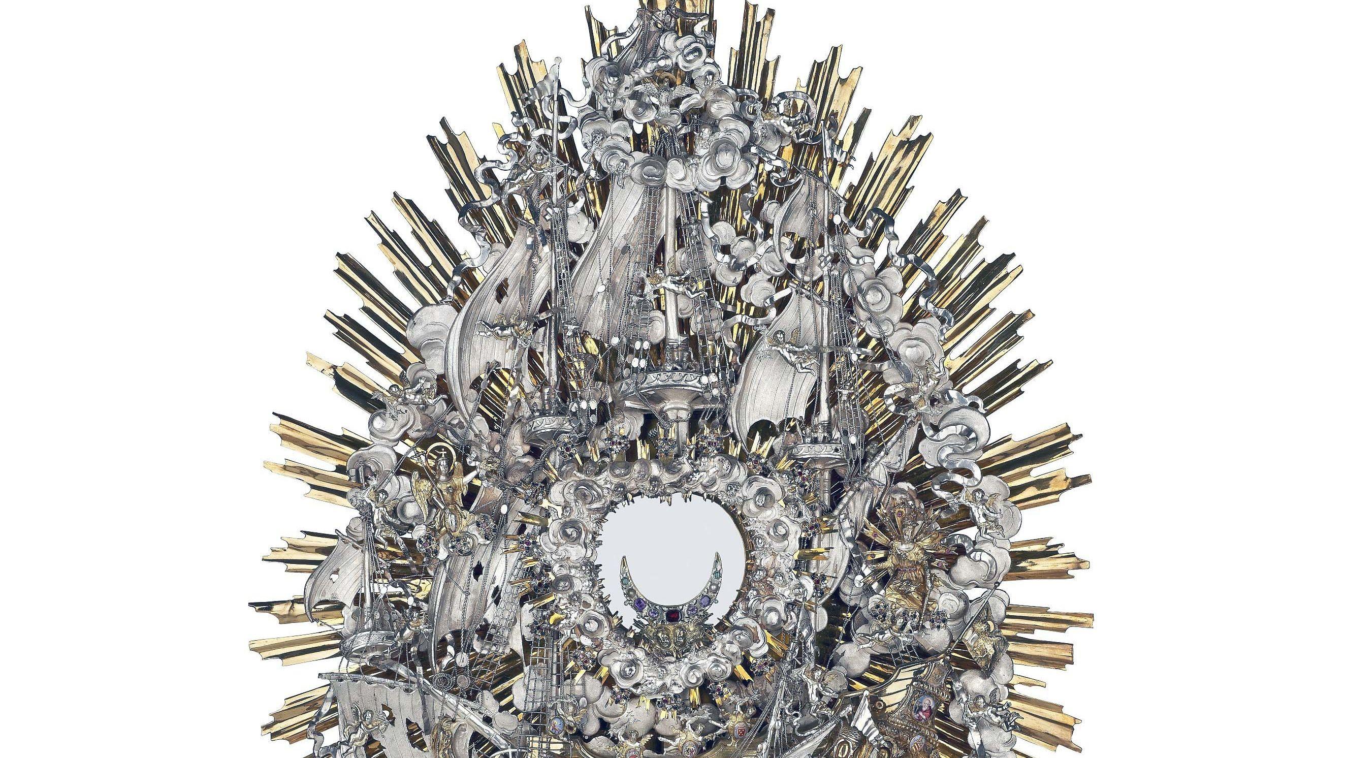 Die vom Augsburger Goldschmied Johann Zeckel gefertigte Lepanto-Monstranz ist jetzt in Regensburg zu sehen.